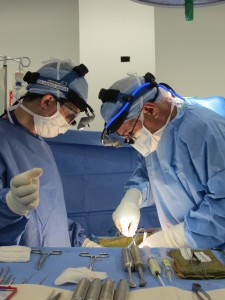 Dr Rachid Assina Operating with Dr Andrew Casden 2