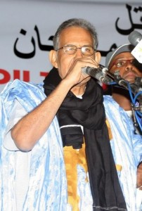 Mauritania's opposition leader Ahmed Ould Daddah speaks on December 18, 2012 during a meeting in Nouakchoutt (AFP Photo:-)