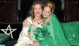 Princess Lalla Soukaina with her mother Princess Lalla Meryem