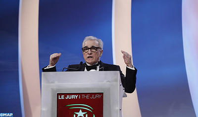American film director Martin Scorsese at the opening ceremony of the 13 th edition of the Marrakesh Film Festival