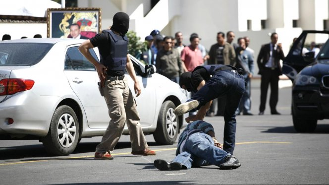 Casablanca Police Forces in Search of Two Armed Suspects