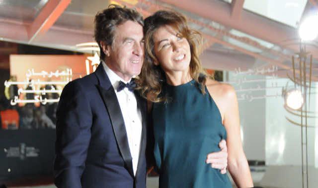 FIFM 2013 - Francois Cluzet et sa femme Narjiss