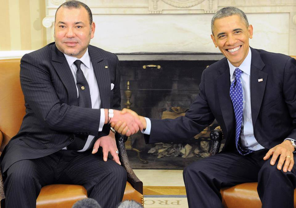 King Mohammed VI of Morocco meeting with American President Barack Obama. Western Sahara