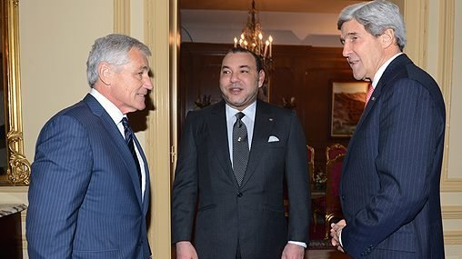 King Mohammed VI receives Secretary of State, John Kerry, Secretary of Defense Chuck Hagel