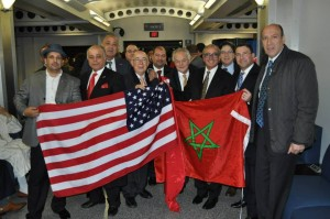 Moroccans welcoming King Mohammed VI in Washington