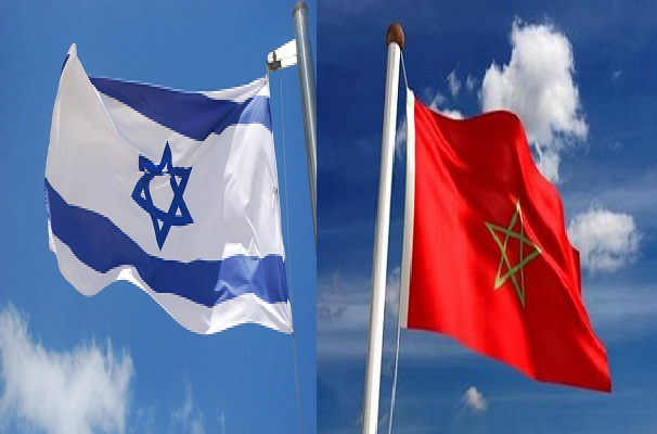 Morocco and Israel flags
