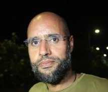 Kadhafi's jailed son appears on Libya TV
