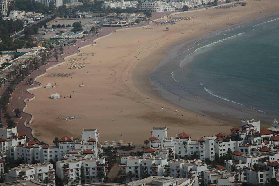The Beach of Agadir City, Morocco