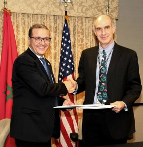 USAID sign a treaty with morocco