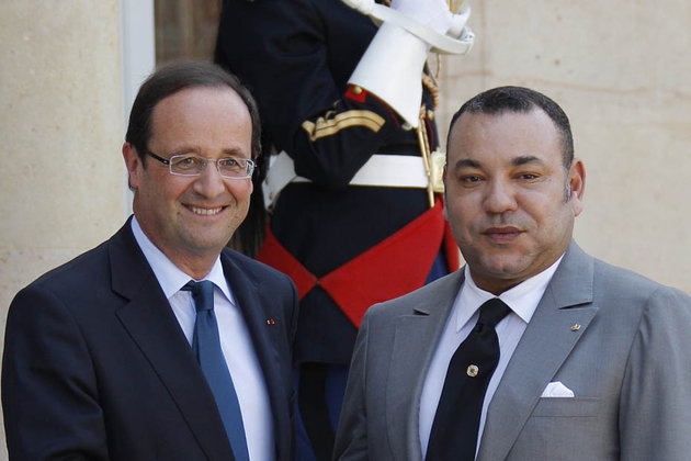 Hollande and King Mohammed VI
