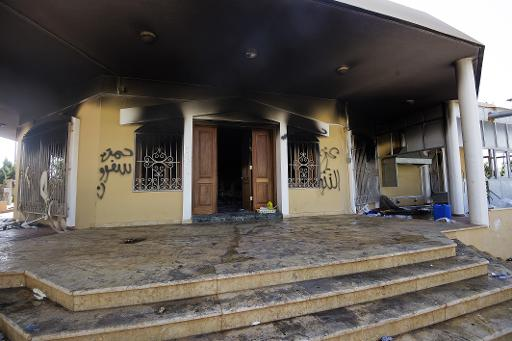 A picture shows a burnt building at the US consulate compound in the eastern Libyan city of Benghazi on September 13, 2012 (AFP:File, Gianluigi Guercia)