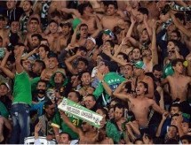 Moroccans celebrate Raja's qualification to the final of the Club World Cup