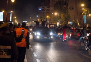 Moroccans celebrating Raja's historic win in FIFA Club World Cup (Photo Mouad Chahbane for Morocco World News)