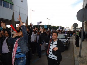 Morocco- B.A., M.A protesting teachers carry on striking despite threats from the Ministry