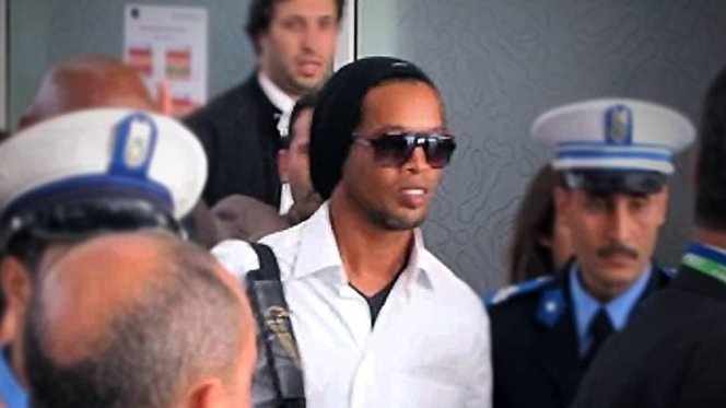 Ronaldinho arrived in Marrakech