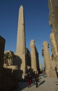 Tourists visit the Temple of Karnak, in the southern Egyptian city of Luxor, on December 21, 2013 (AFP, Khaled Desouki)