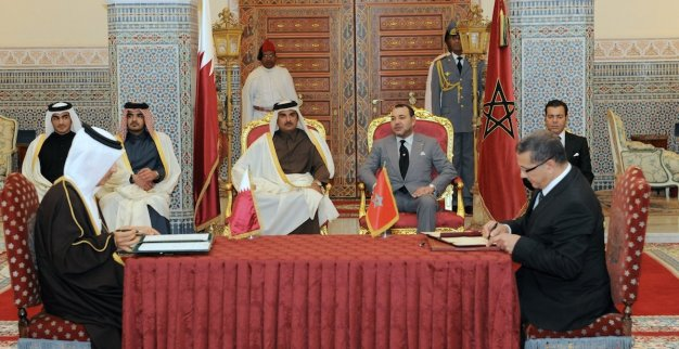 king Mohammed VI and emir of qatar