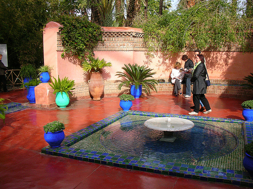 The Majorelle Garden is a twelve-acre botanical garden and artist's landscape garden in Marrakech