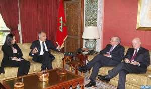 Moroccan Foreign Miniter Salahedine Mezouar with his Portuguese counterpart in Rabat