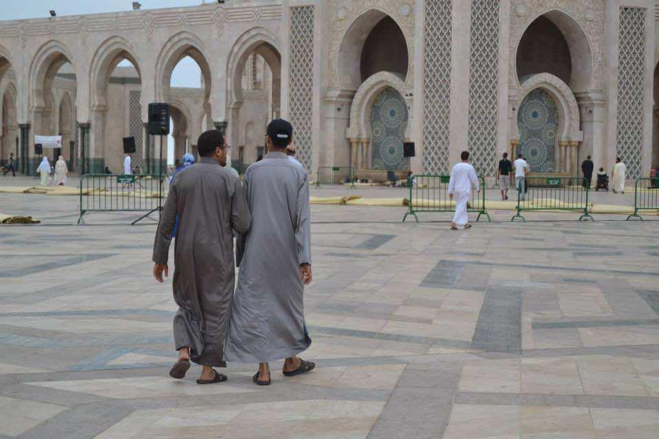 Moroccans in Hassan II Mosque