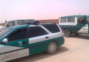 Polisario security cars in the Tindouf camps