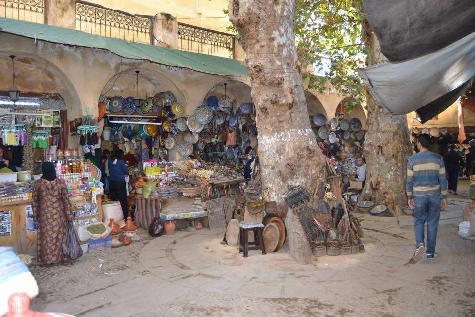 Souk El Hannah in Fez, Morocco