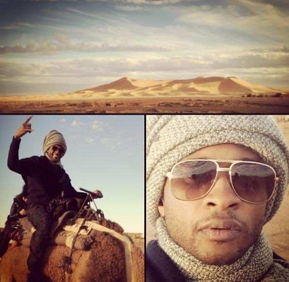 Usher in Moroccan desert