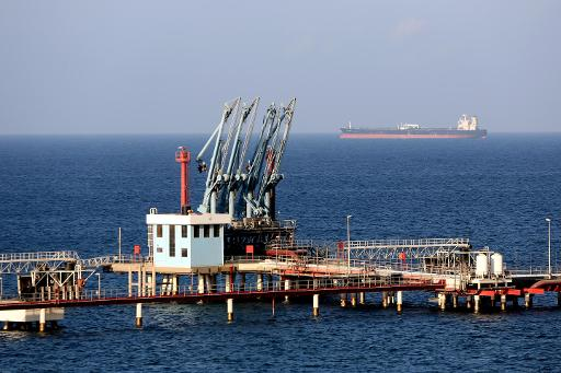 A general view shows the Hariqa oil port and loading installation on August 20, 2013 in Tobruk, Libya (AFP, Mahmud Turkia)