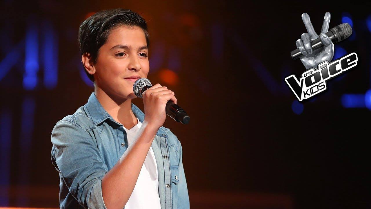 Ayoub Maach, winner of The Voice Kids 2014 in Holland