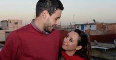 Ibtissam Lashgar with her boyfriend Soufiane Fares