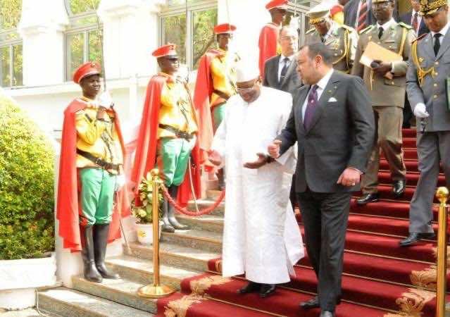 King Mohammed VI along with Malian President Ibrahim Boubacar Keita