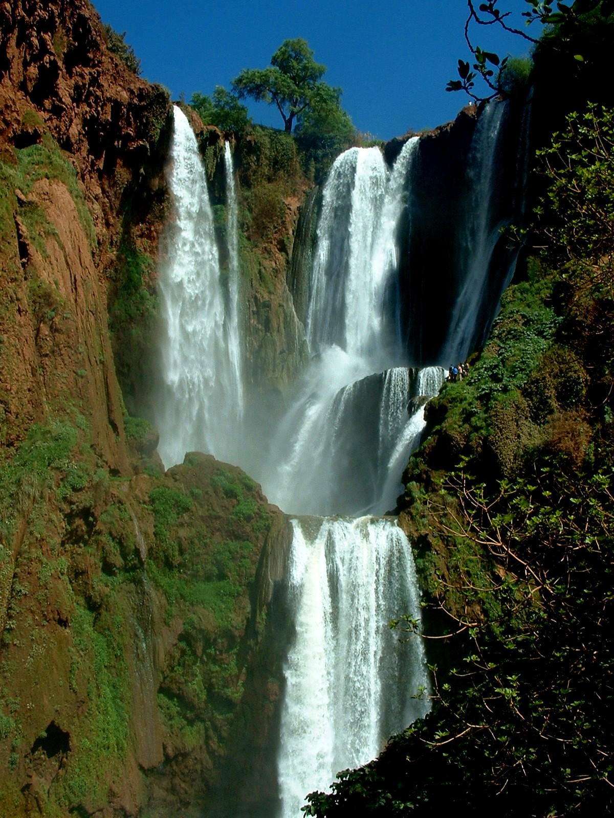 Moroccan waterfalls Ouzoud