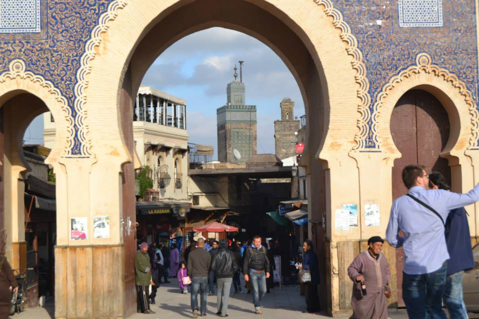The Gate of Boujloud in Fez, Morocco