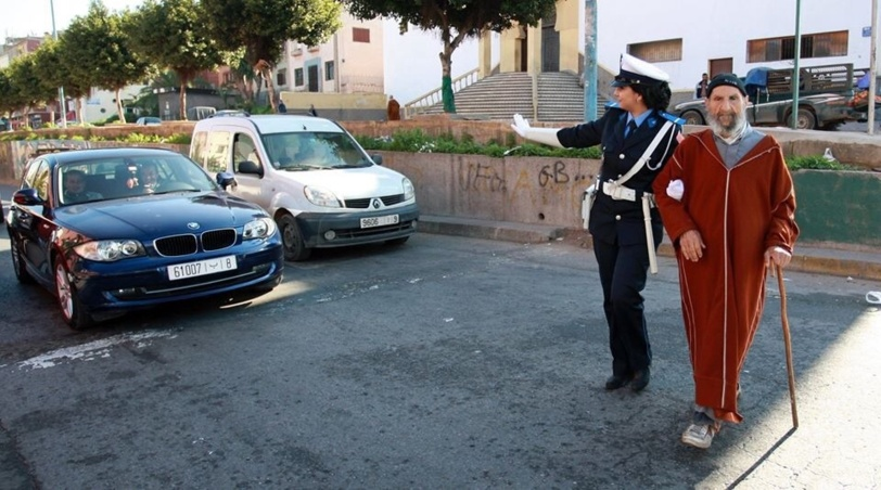 The Policewoman and the Elderly Man