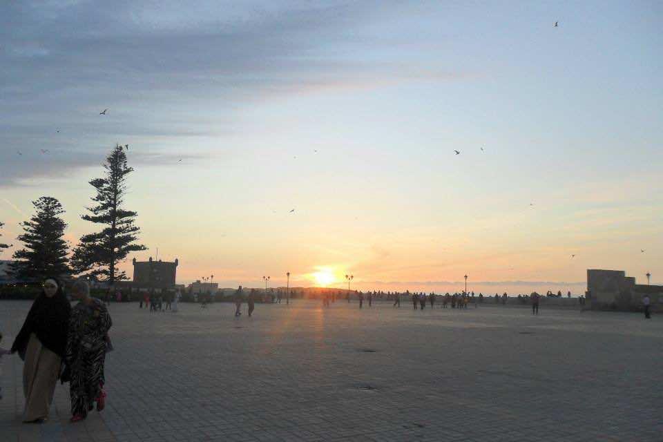 Beautiful Sunrise in Morocco. (Moroccan holidays)