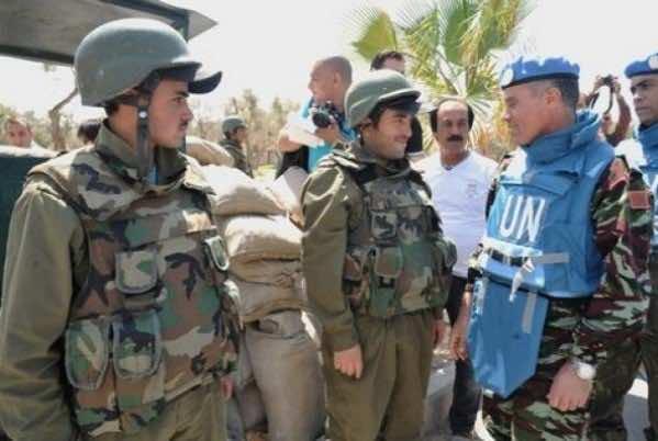 Moroccan blue helmet soldiers