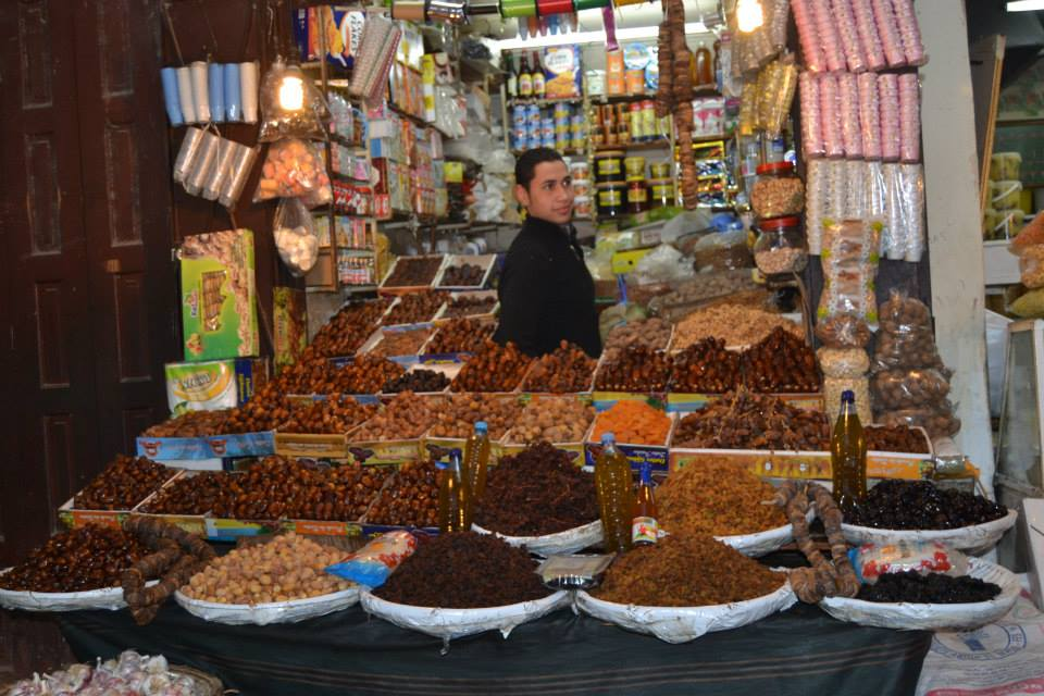 Moroccan Delights, Dry fruits. Fez Souk in Morocco (Moroccan Holidays)
