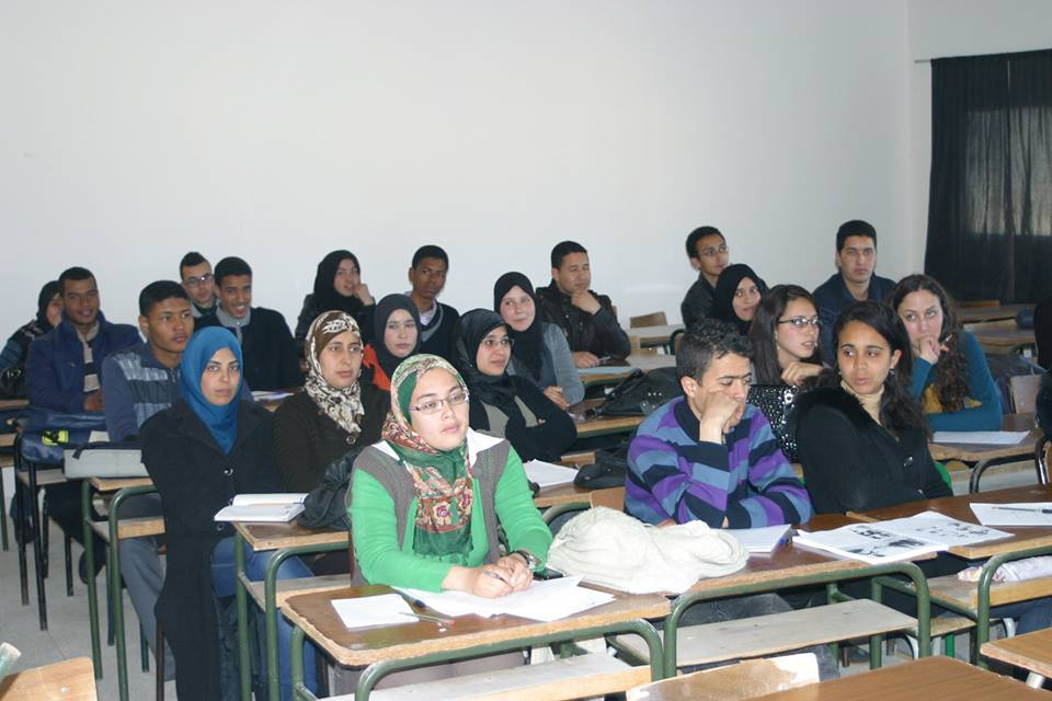 Moroccan Students in the University of Meknes, Morocco