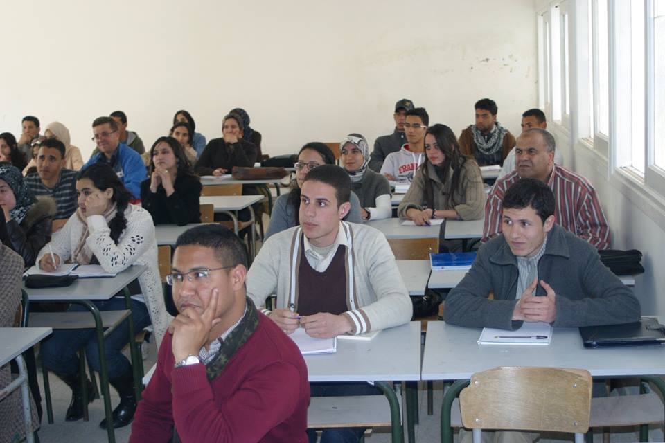 Moroccan University Students during a class in Meknes