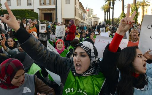 Moroccan women demonstrate during the celebration of the International Women's Day on March 8, 2013, in Rabat - Copyright - AFP:File. Rabat (AFP)