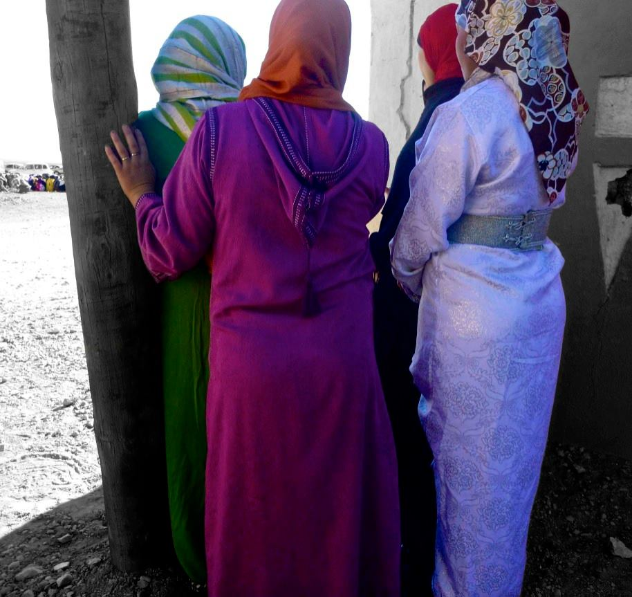 Moroccan women listening to the Call to Prayer
