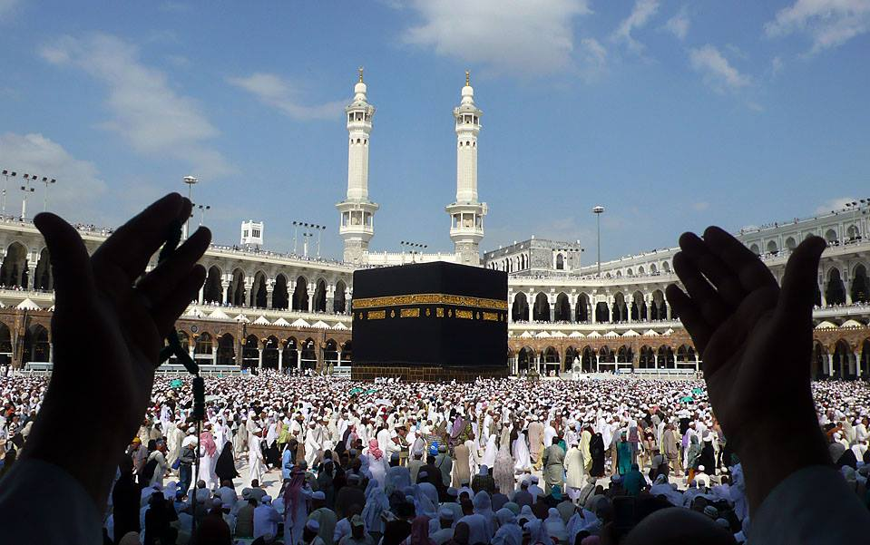 Muslim pilgrims performed the final walk (Tawaf al-Wadaa) around the Kaaba at the Grand Mosque in the Saudi holy city of Mecca on Monday. (Mahmud Hams: