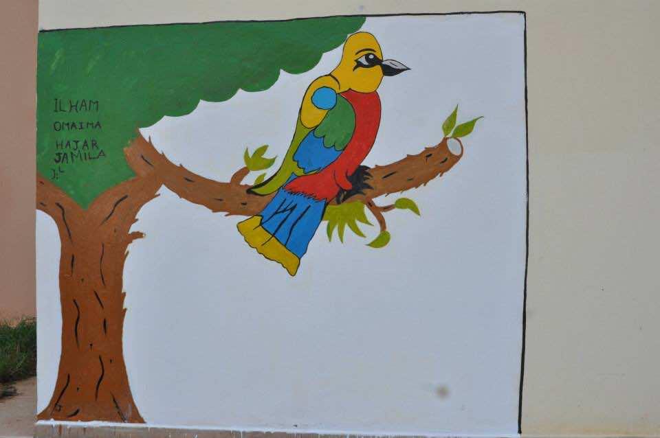 The International Youth Foundation's Passport to Success Program at Dar Taliba-Zaio, gravitti of a bird