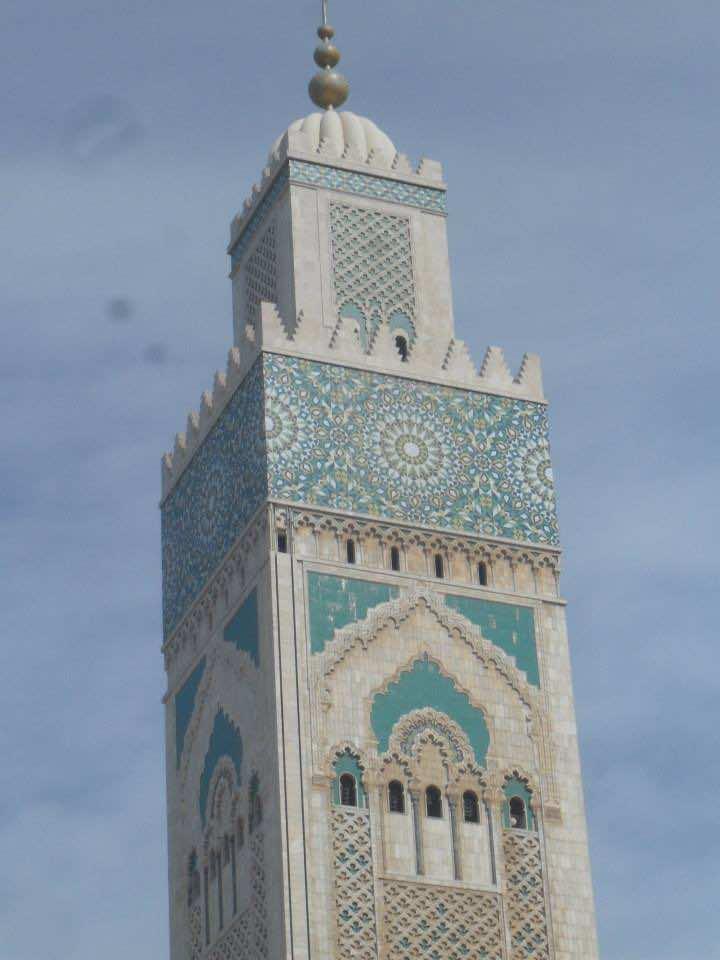 The Menara of Mosque Hassan II in Casablanca