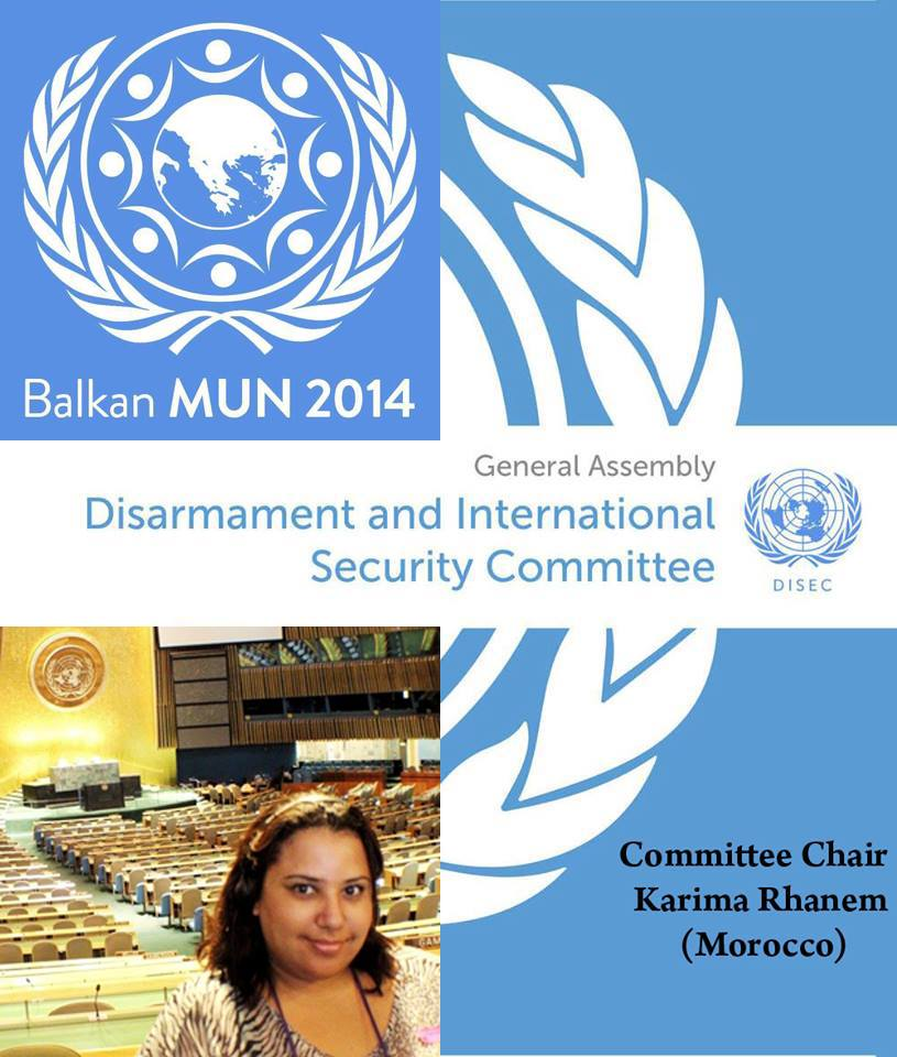 Karima Rhanem in the Model United Nations in the Balkan