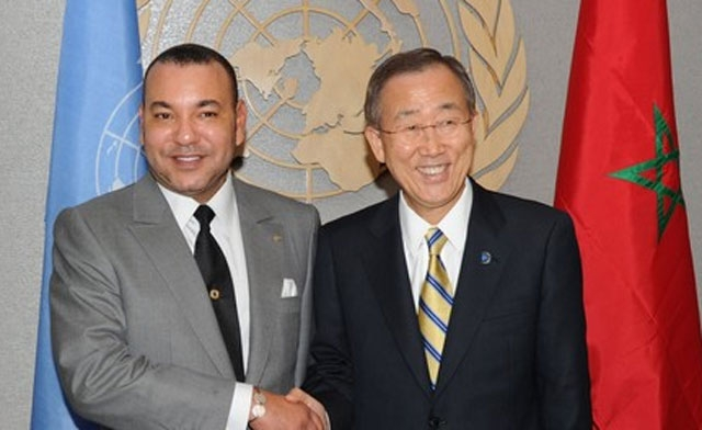 King Mohammed VI and Ban Ki-moon