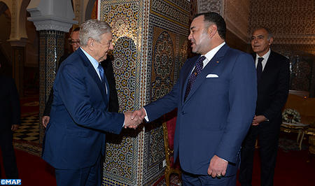 King Mohammed VI receives Georges Soros, chairman of 'Open Society foundations'