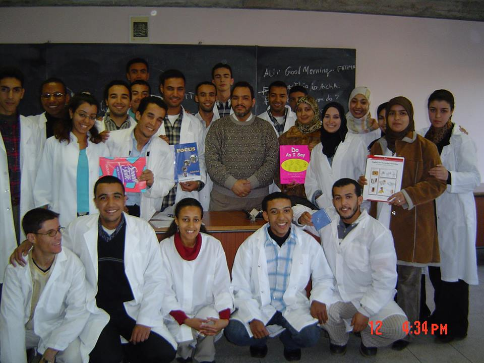 Mohamed El Hassan Abou El Fadel with Moroccan Novice Teachers in Agadir