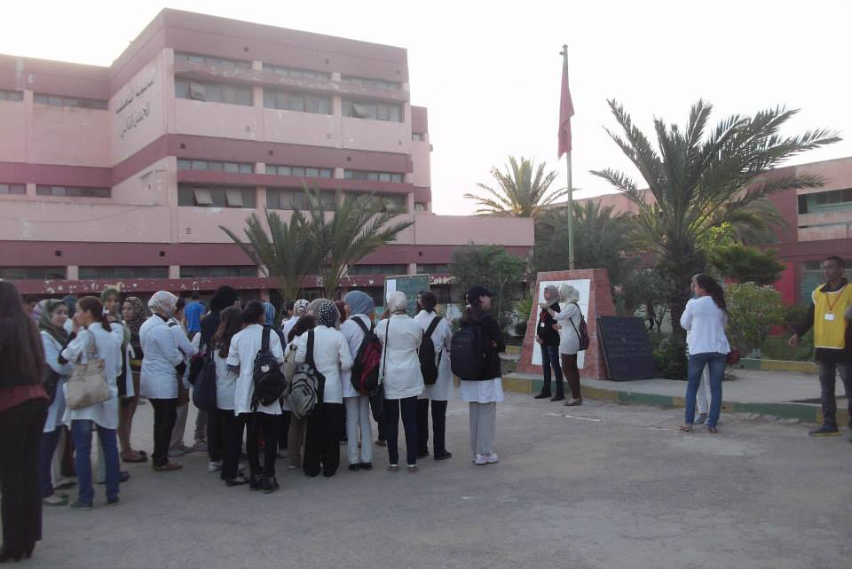 Moroccan students in Casablanca