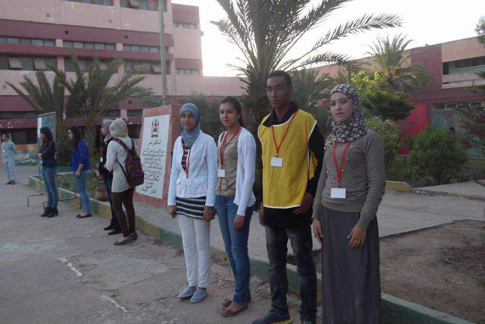 Moroccan students in Casablanca